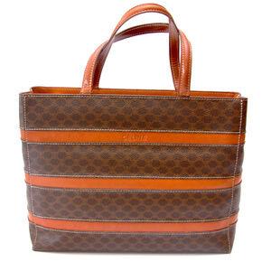 CELINE Macadam Shoulder Tote Bag PVC/Leather